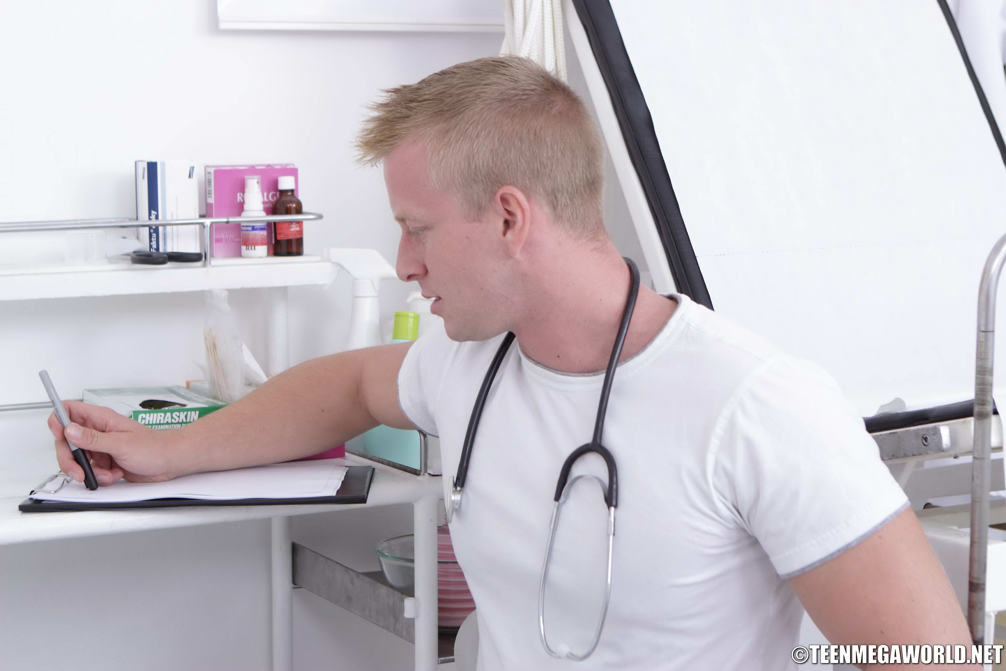 Filthy Doc Palping His Patient