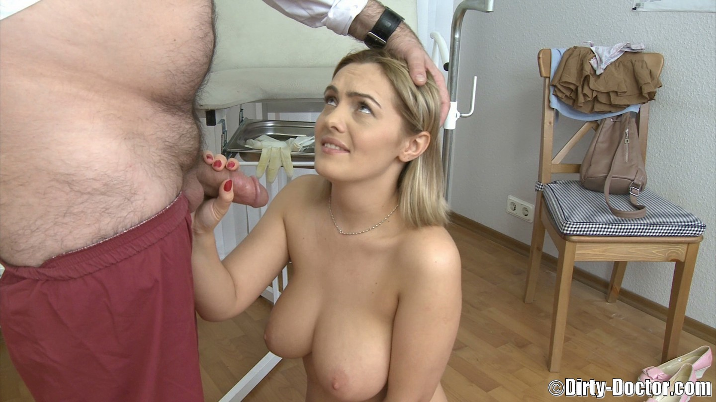 women gets fuck at a fake breast exam